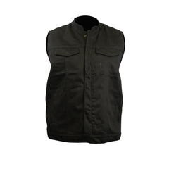 In Blues We Trust Back Patch - Black Denim Club Vest (Men)