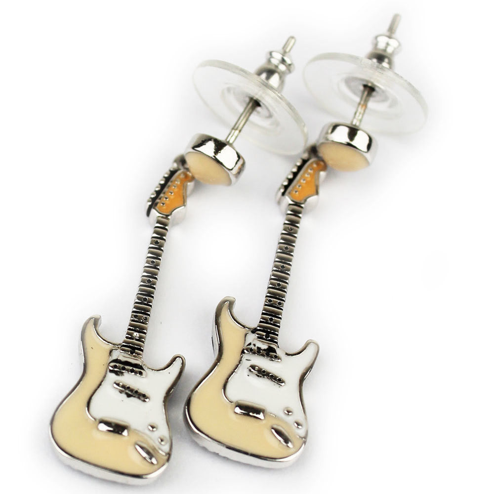 Blonde Fender Guitar Earrings