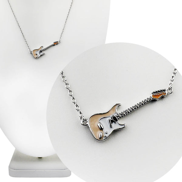 Blonde Fender Guitar Necklace
