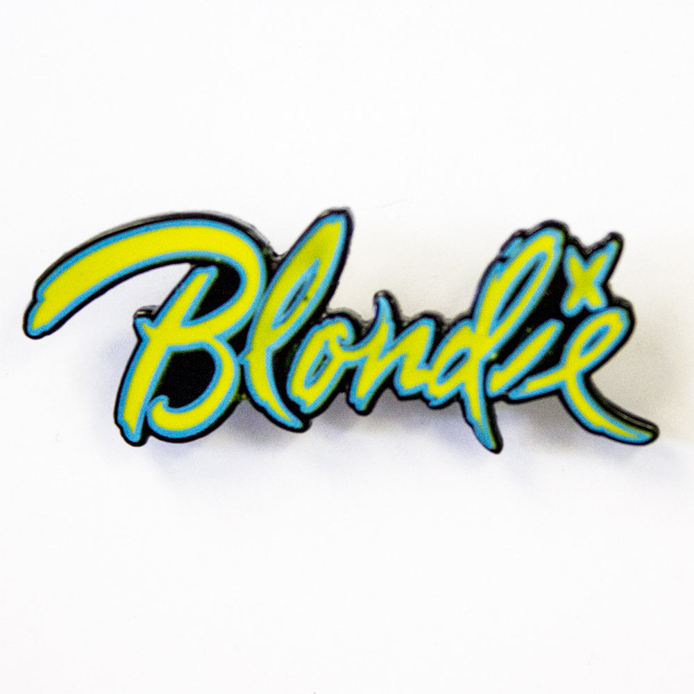 Blondie Logo Pin