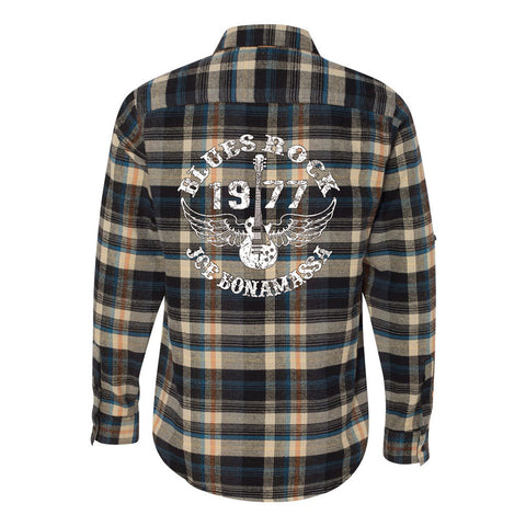 Blues Rock Flannel Long Sleeve (Men) - Dark Khaki