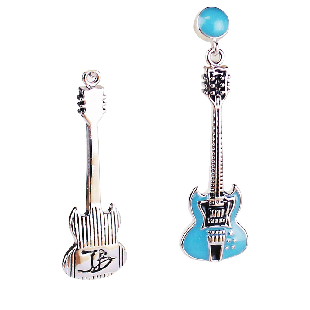 SG Pelham Blue Guitar Earrings