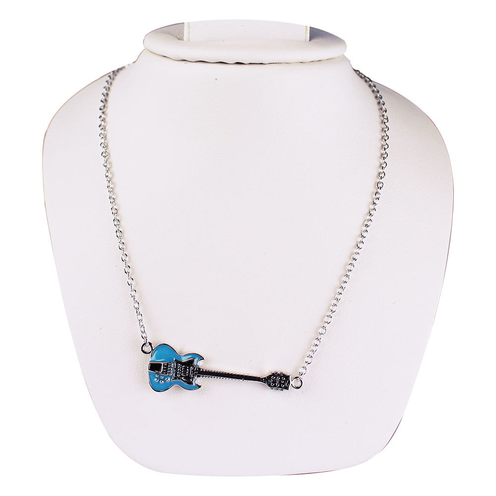 SG Pelham Blue Guitar Necklace
