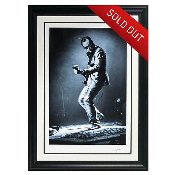 "#1 ""Blue and Evil"" JOE BONAMASSA Collectible Litho (FRAMED - USA ONLY)"
