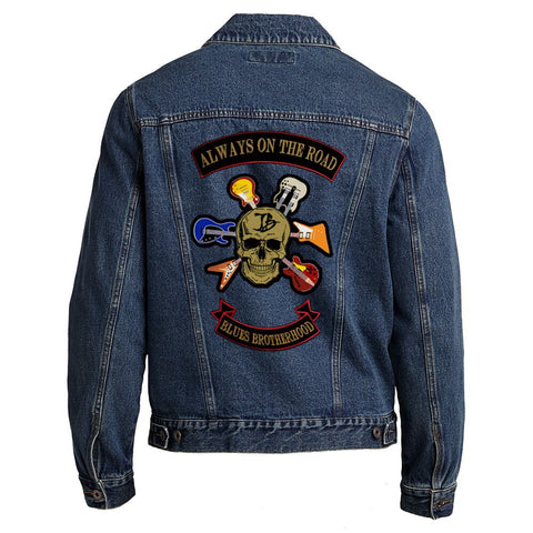 Blues Brotherhood Back Patch - Port Authority Denim Jacket (Men)
