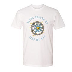 Blues Helped Me Find My Way T-Shirt (Unisex) - White
