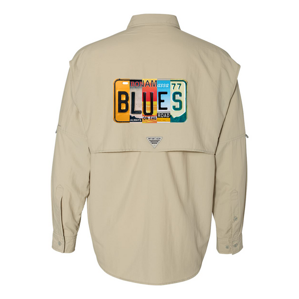 Columbia Bahama II Fossil Long Sleeve - Blues License Plate (Men)