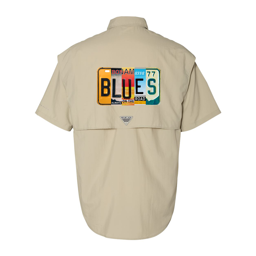 Columbia Bahama II Fossil Short Sleeve - Blues License Plate (Men)