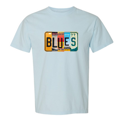 Blues License Plate T-Shirt (Unisex) - Chambray