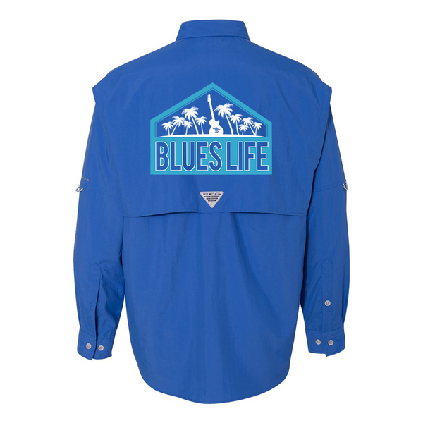 Columbia Bahama II Vivid Blue Long Sleeve - Blues Life Shield (Men)