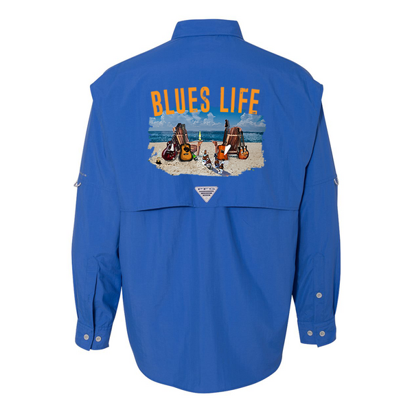 Columbia Bahama II Vivid Blue Long Sleeve - Blues Life (Men)