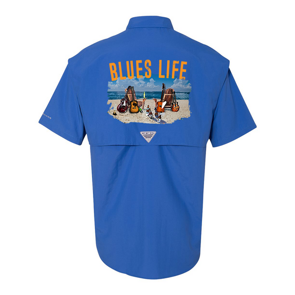 Columbia Bahama II Vivid Blue Short Sleeve - Blues Life (Men)