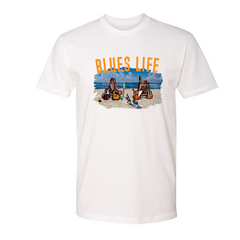 Blues Life T-Shirt (Unisex) - White