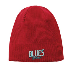 Blues Garage New Era Knit Beanie - Red