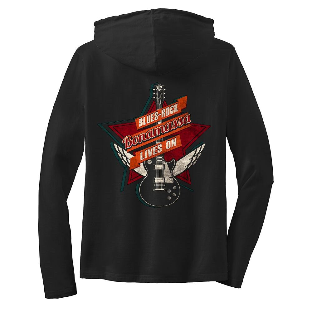 Blues Rock Lives On Hooded Long Sleeve (Women)