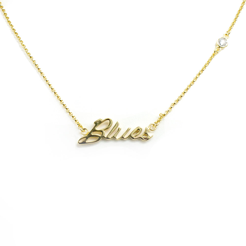 Blues Script Necklace