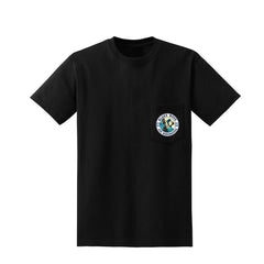 Blues Wave Pocket T-Shirt (Unisex)