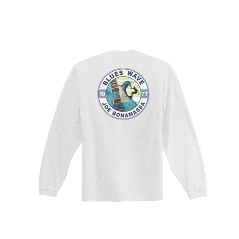 Blues Wave T-shirt - Ash Long Sleeve (Men)
