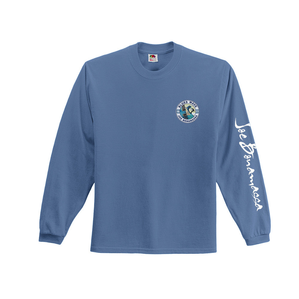 Blues Wave T-shirt - Light Blue Long Sleeve (Men)