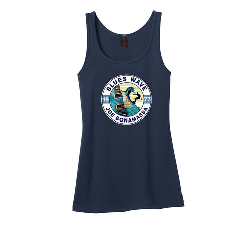 Blues Wave Tank (Women) - Navy