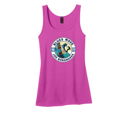 Blues Wave Tank (Women) - Pink Raspberry