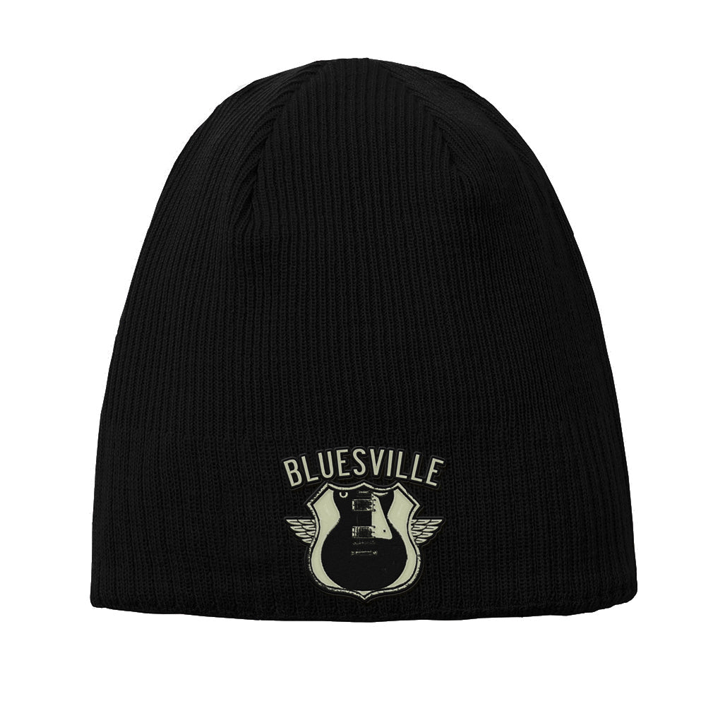 Bluesville Route New Era Knit Beanie - Black