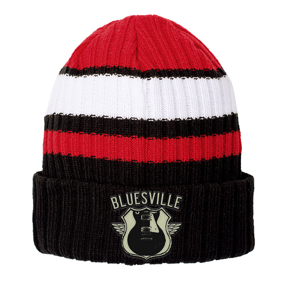 Bluesville Route New Era Ribbed Tailgate Beanie - Red