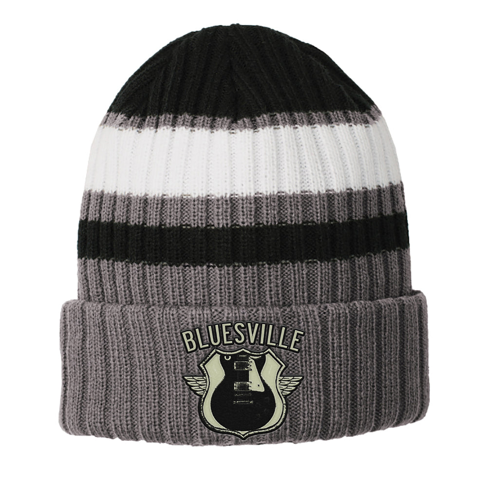 Bluesville Route New Era Ribbed Tailgate Beanie - Black
