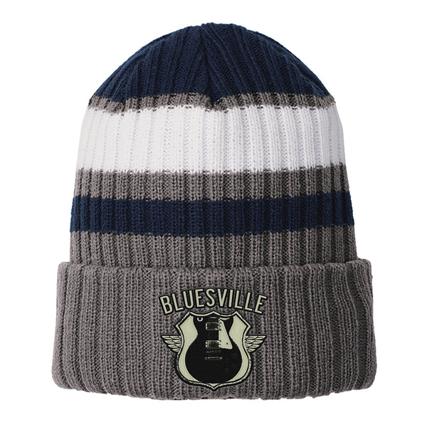 Bluesville Route New Era Ribbed Tailgate Beanie - Navy
