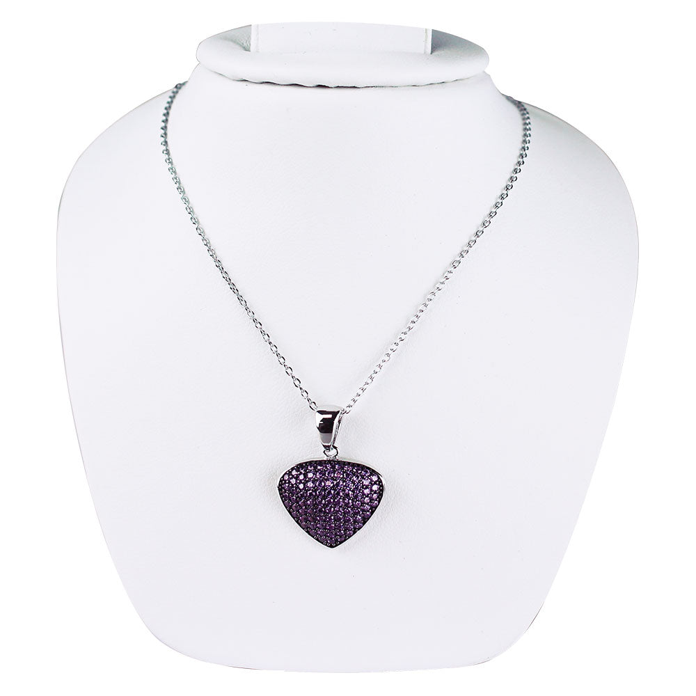 Bona-Fide Amethyst Guitar Pick Necklace