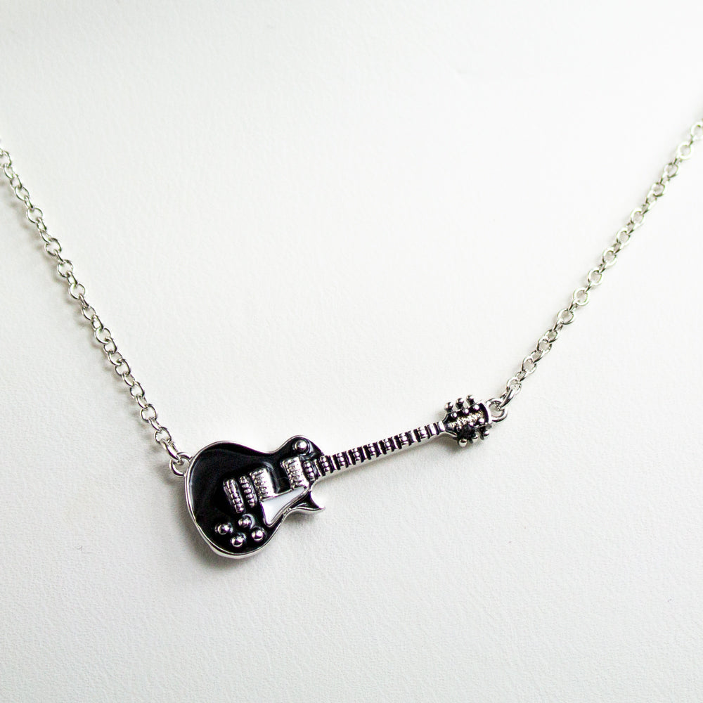 Bona-Fide Black Guitar Necklace