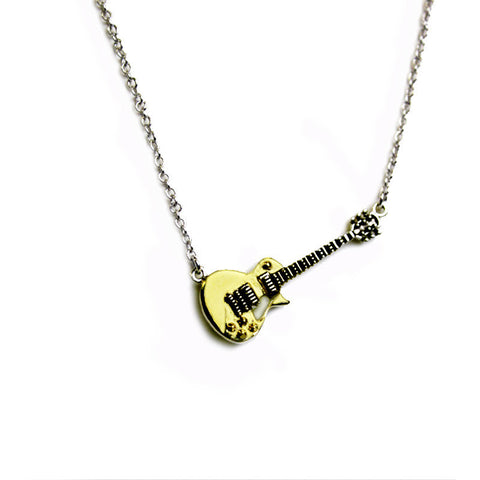 Bona-Fide Gold Top Guitar Necklace