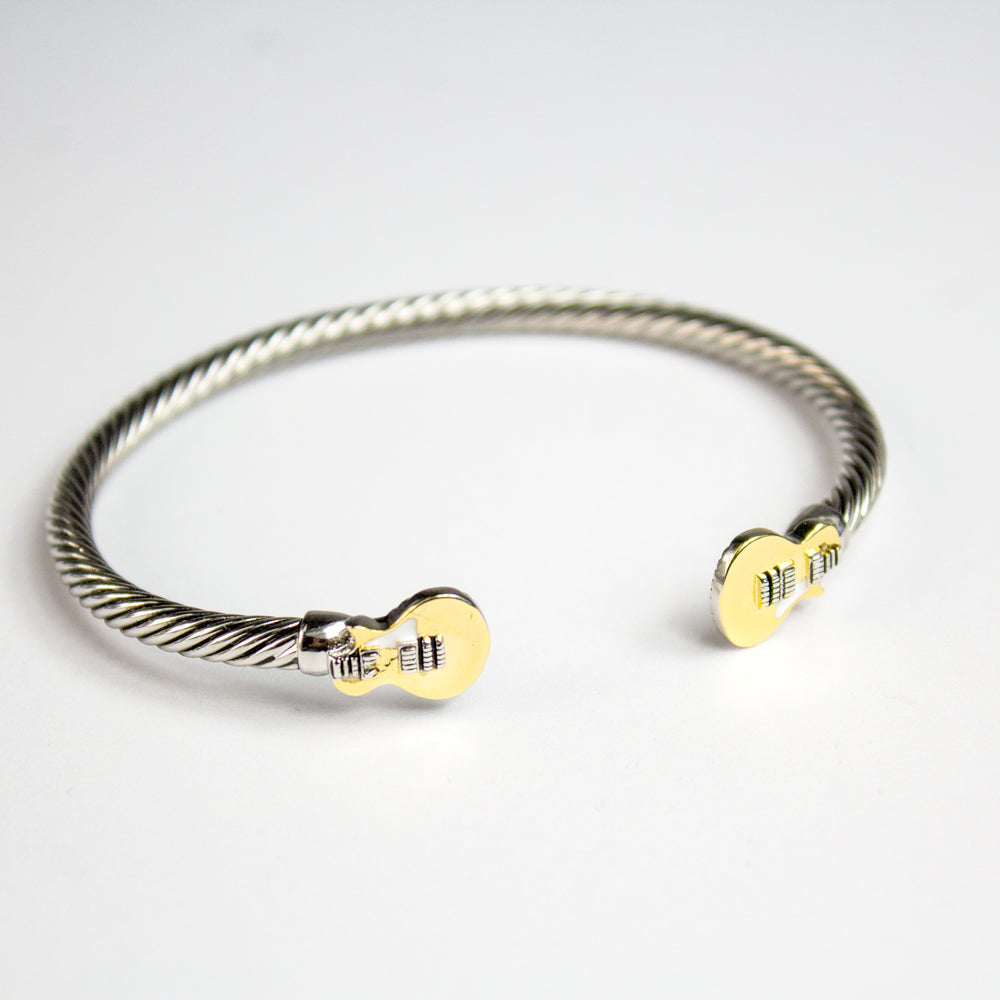 Bona-Fide Goldtop Guitar Open Bangle