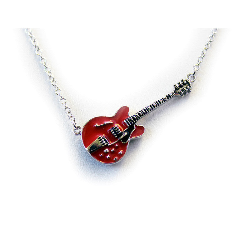 the steel necklace chain products jewelry pendant electric stainless free trendy deal vnox guitar rock punk bunker music