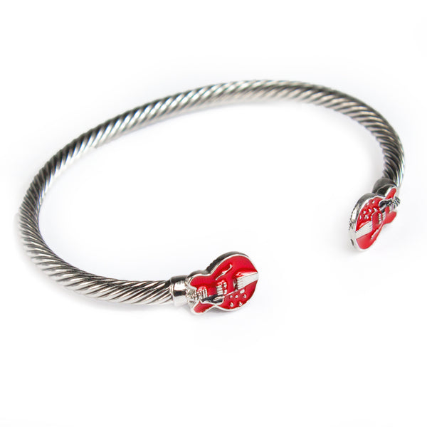 Bona-Fide Red ES Guitar Open Bangle