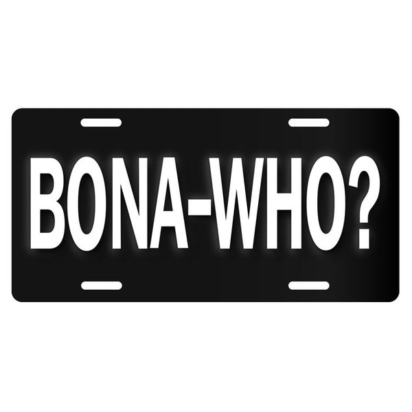 JB Bona Who? License Plate