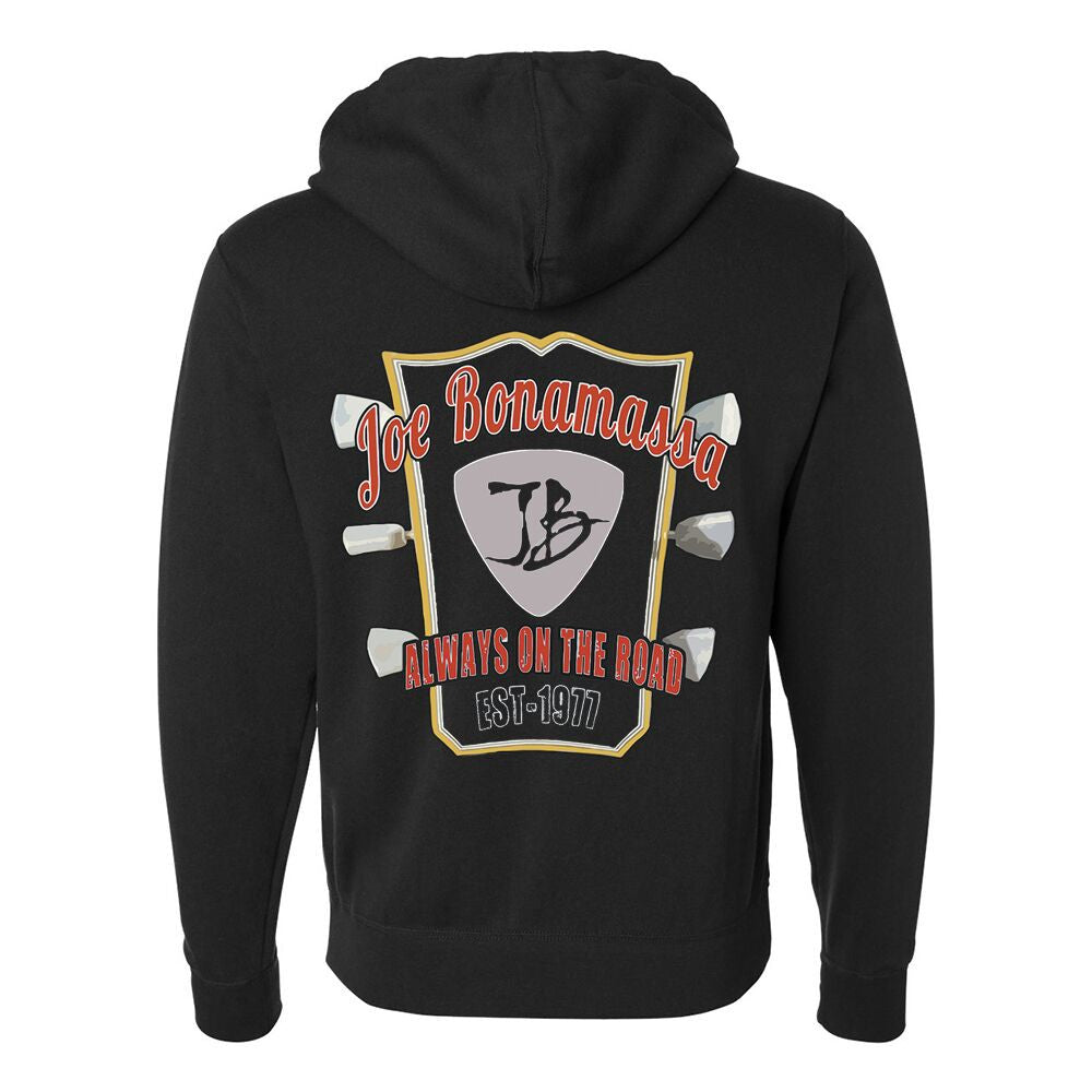 Bona-Fide Headstock Zip-Up Hoodie (Unisex) - Black