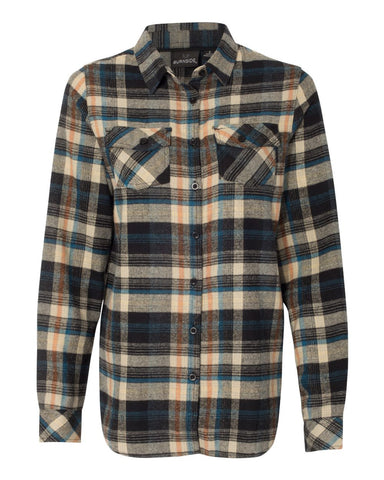Vintage Headstock Flannel Long Sleeve (Women) - Dark Khaki