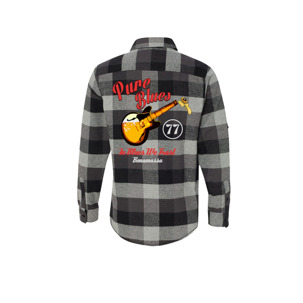 Brews & Blues Flannel Long Sleeve (Men) - Black