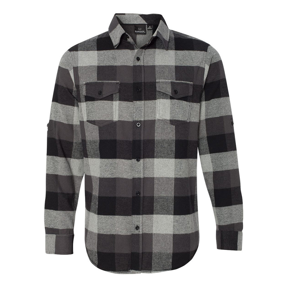 Blues Rock Flannel Long Sleeve (Men) - Black