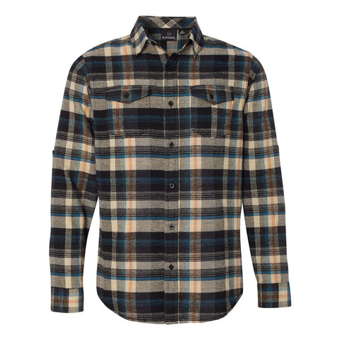 JB Vintage Flannel Long Sleeve (Men) - Dark Khaki