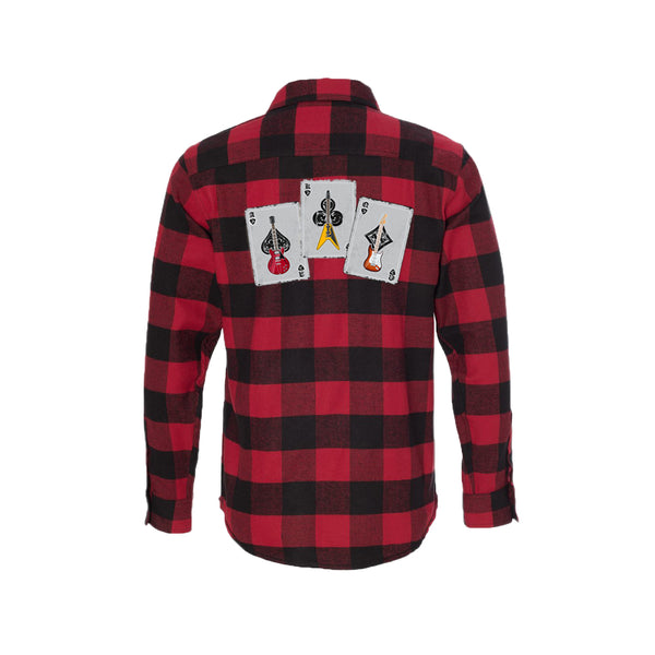 Deck of Blues Flannel Long Sleeve (Men) - Red