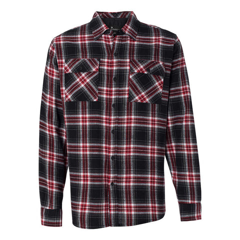 Blues Rock Flannel Long Sleeve (Men) - Red & Black