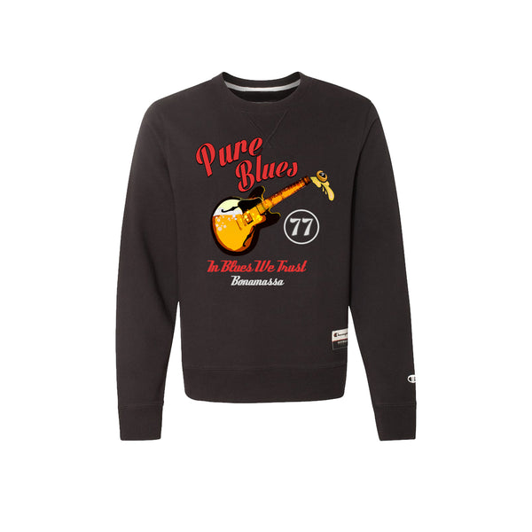 Brews & Blues - Champion Sueded Fleece Crew (Black)