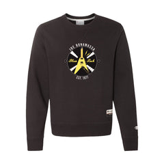 Electric Flying V - Champion Sueded Fleece Crew (Black)