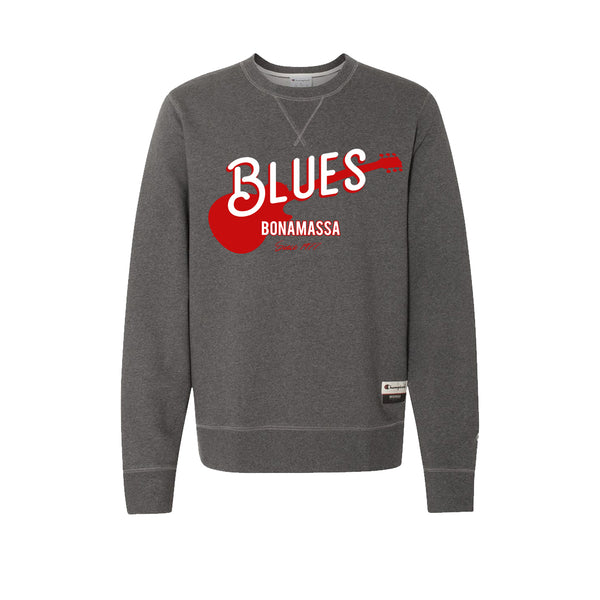 Certified Blues - Champion Sueded Fleece Crew (Charcoal)