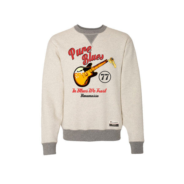 Brews & Blues - Champion Sueded Fleece Crew (Oatmeal)