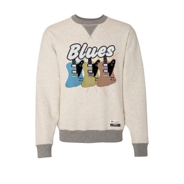 Blues Amigos - Champion Sueded Fleece Crew (Oatmeal)