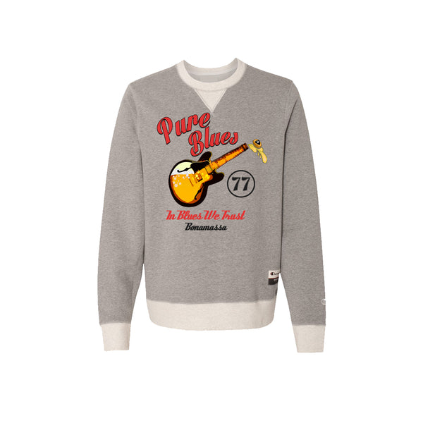 Brews & Blues - Champion Sueded Fleece Crew (Oxford Grey)
