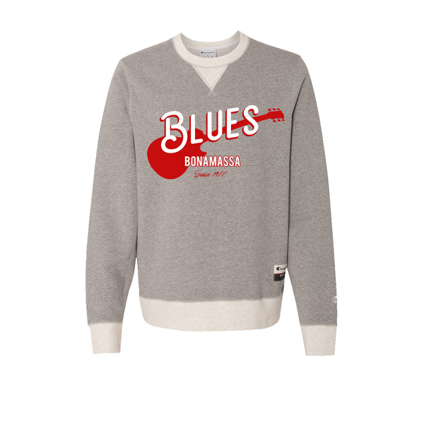 Certified Blues - Champion Sueded Fleece Crew (Oxford Grey)